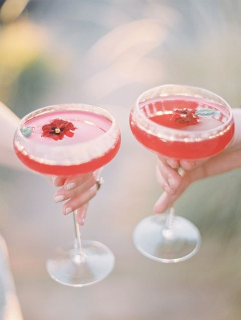 Poppy Red Specialty Cocktails for a Summer Wedding