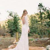 Natural Colorado Mountain Wedding Ceremony