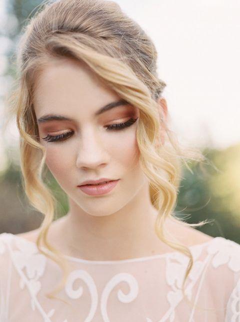 Smoky Rose Gold Bridal Makeup