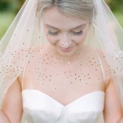 Gold Sequin Trimmed Veil for a Sparkling Bridal Accessory