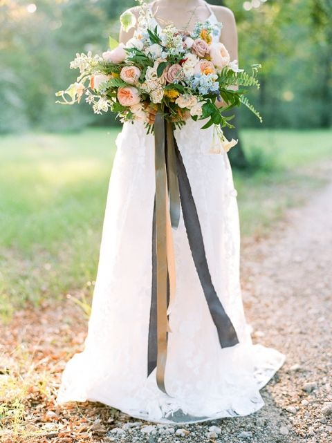 Texas Summer Wedding with a Colorful Bouquet