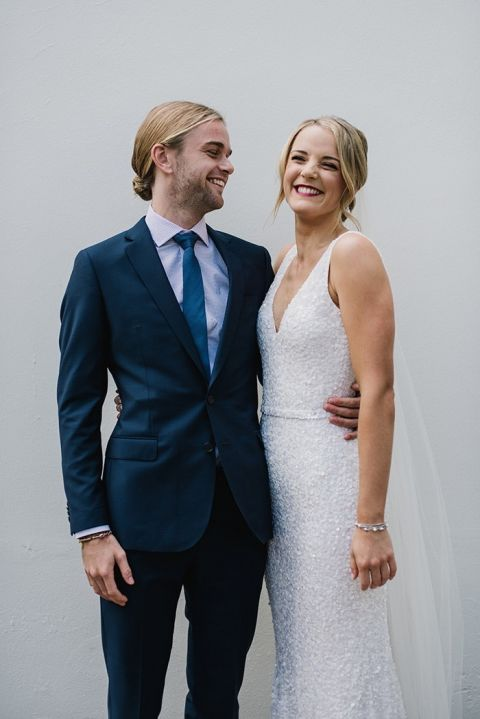 Modern Chic Navy Wedding with a Sequin Gown