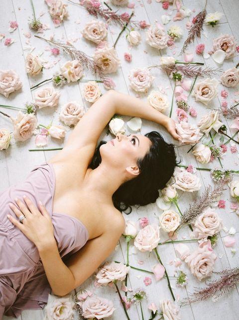 Dreamy Lavender and Peach Floral Bridal Shoot