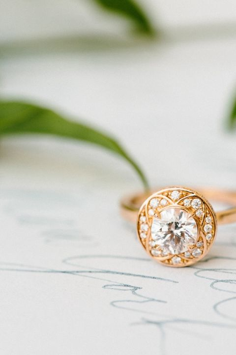 Unique Solitaire Engagement Ring in Yellow Gold