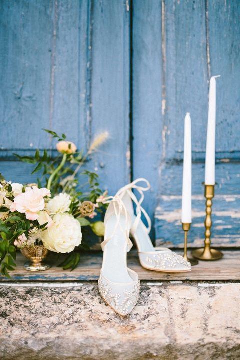 Embellished Bridal Shoes with Jeweled Details