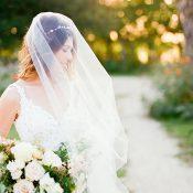 Romantic Garden Wedding Shoot with an Elegant Veil