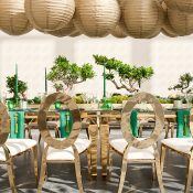 Gold Paper Lantern Chandelier for a Luxe Asian Wedding Reception