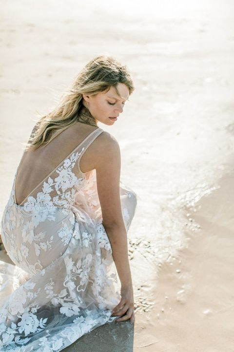 Made With Love Stevie Nude Lace Wedding Dress