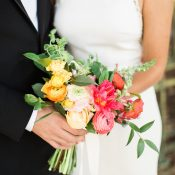 Colorful Modern New Orleans Wedding Flowers