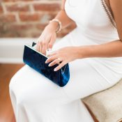 Something Blue with Vintage Velvet Bridal Clutch