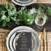 Industrial Greenery Event Design with Chic Black Decor