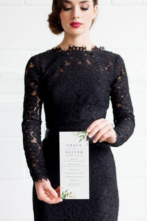 Modern Black Lace Dress