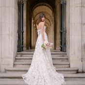 Graceful Floral Lace Galia Lahav Bridal Gown