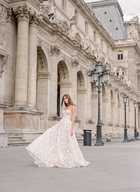 Romantic Couture Bridal Photos in Paris with a Galia Lahav Wedding Dress