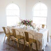Ultra Violet and Gold Modern Wedding Decor