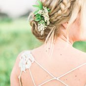 Rustic Braided Bridal Hairstyle and an Open Back