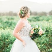 Lace and Wildflowers for a Sweet Rustic Summer Wedding