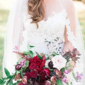 Jewel Tone Fall Bouquet in Burgundy and Berry