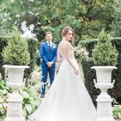 Formal Garden Wedding Photos on a Private Estate