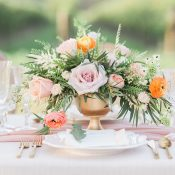 Gold and Peach Spring Florals