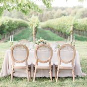 Neutrals and Spring Florals for a Winery Wedding