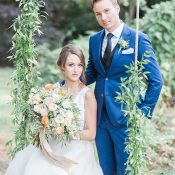 Flower Swing for a Dreamy Spring Floral Filled Wedding Day