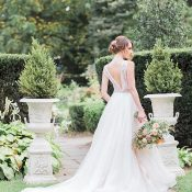 Formal Garden Spring Florals Wedding Photos