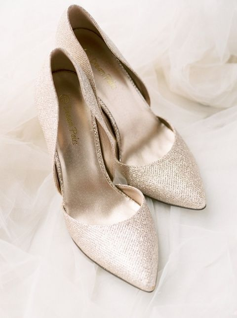 Classic Gold Bridal Shoes