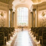 Candlelight Wedding Ceremony in a Chapel in Paris