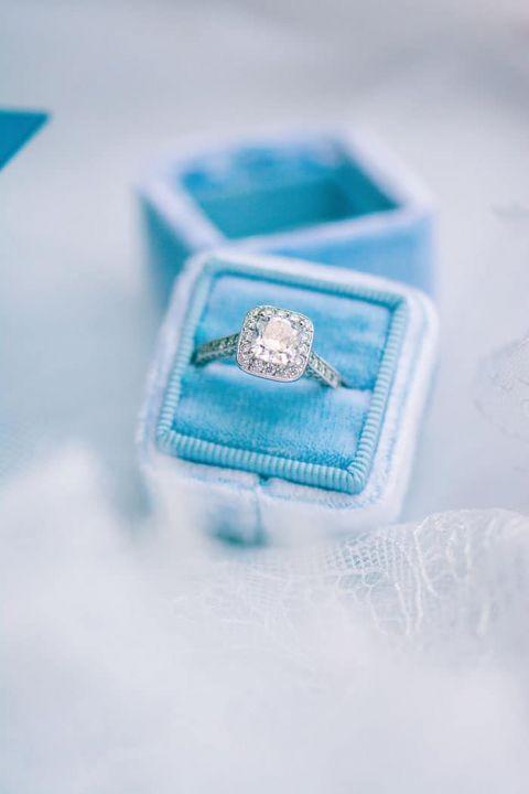 Modern Cushion Cut Halo Engagement Ring