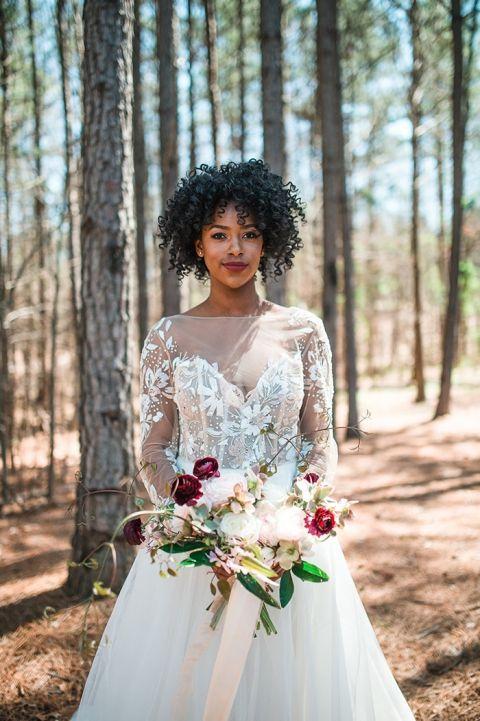 Dreamy Woodland Bridal Photos