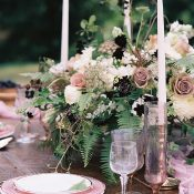 Mauve and Vintage Pink Summer Wedding Flowers