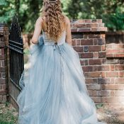 Secret Garden Inspired Wedding Shoot with a Dusty Blue Dress