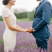 Enchanting Lavender Farm Wedding Photos