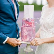 Marbled Purple Cake for a Lavender Farm Wedding