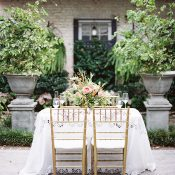 Intimate Sweetheart Table for a Destination Elopement in Historic Charleston