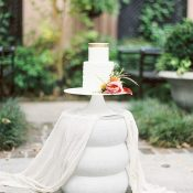 Modern Wedding Cake Table