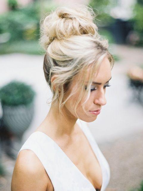 Modern Bridal Bun Hairstyle