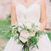 Elegant Greenery Bouquet with White Flowers