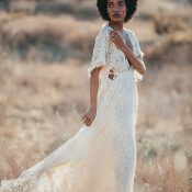 Bohemian Bride in a Sustainable Wedding Dress