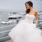 Lace and Tulle Drop Waist Monique Lhuillier Wedding Dress