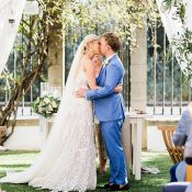 Bride and Groom Say I Do at a Mediterranean Citrus Inspired Wedding
