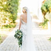 Bohemian Glam Bridal Gown with an Open Back