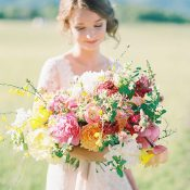 Bold and Colorful Bouquet of Bright Summer Flowers