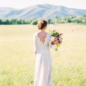 Long Sleeve Lace Wedding Dress for a Vintage Countryside Wedding