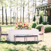 Colorful Country Estate Wedding Reception