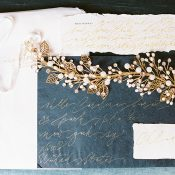 Gold and Crystal Leaf Headpiece for a Vintage Style Bride