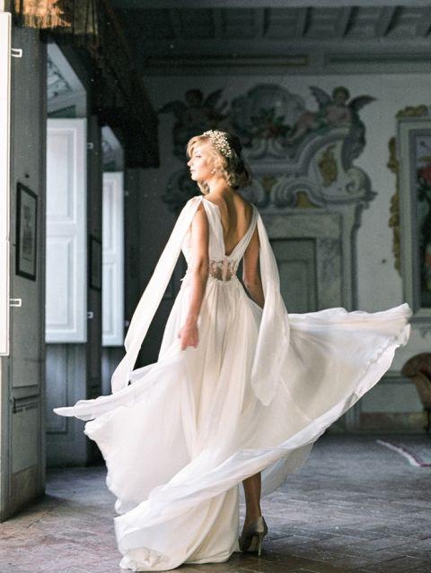 Old World Bridal Elegance for a Villa Wedding in Tuscany