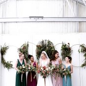 Botanical Meets Celestial Wedding Ceremony Backdrop