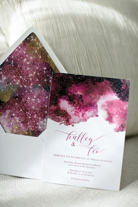 Colorful Constellation Wedding Invitation
